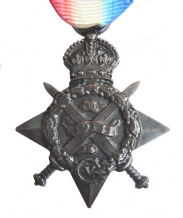 WW1 1914 'Mons' Star Medal Full-Sized Replica Made In Bronze Plated Pewter With Ribbon - 1914S